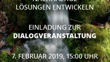Einladungsflyer Dialogveranstaltung
